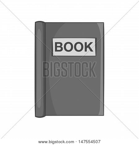 Book to read icon in black monochrome style isolated on white background. Reading symbol vector illustration