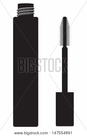 Makeup mascara tube make vector face makeup
