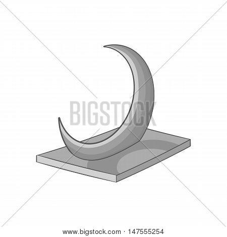 Skyscraper crescent in UAE icon in black monochrome style isolated on white background. Structure symbol vector illustration