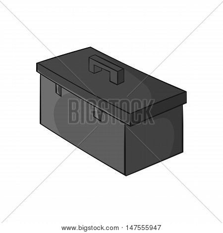 Construction suitcase icon in black monochrome style isolated on white background. Repair symbol vector illustration