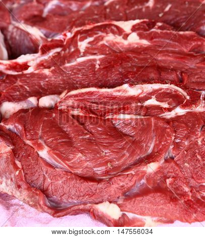 beef meat surface texture close up photo
