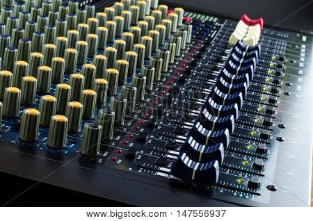 Live Sound Mixers and music console studio