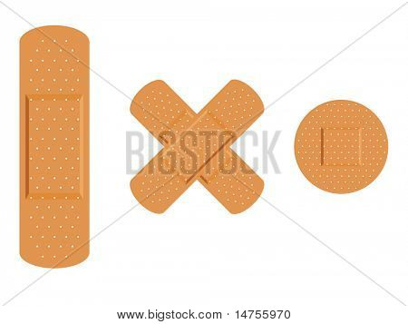 Medical first aid plaster