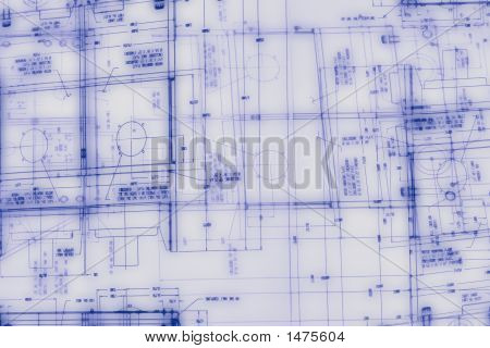 Abstract Engineering Drawing Background