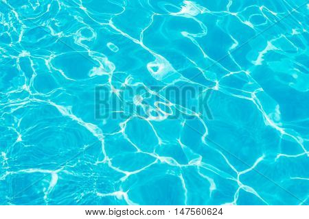 Sun reflections on the water of a pool.
