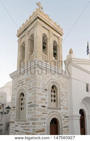Marpissa's village local church at Paros island in Greece.