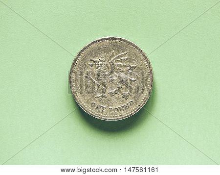 Vintage Gbp Pound Coin - 1 Pound