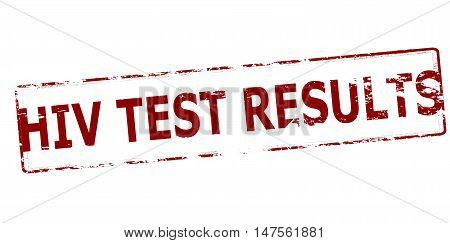Rubber stamp with text HIV test results inside vector illustration