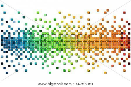 pixel de color arco iris
