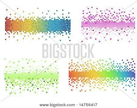 various colors and shapes pixel