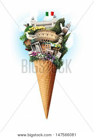 Italy, attractions Italy in the ice cream cone
