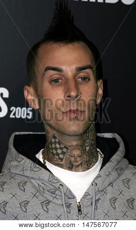 Travis Barker at the 2005 Stuff Style Awards held at the Hollywood Roosevelt Hotel in Hollywood, USA on September 7, 2005.