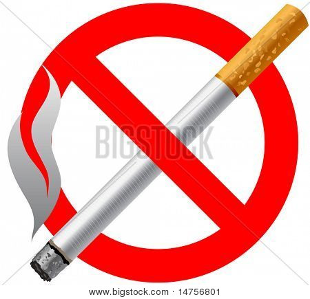 forbidden smoking sign vector illustration