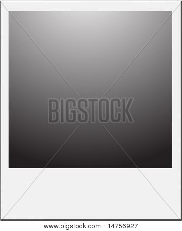vector illustration of blank photo