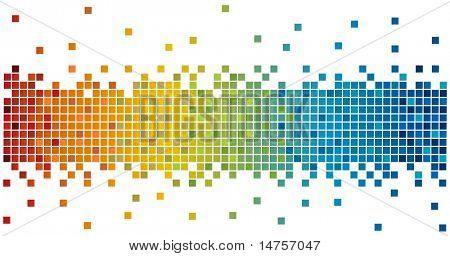 pixels de cores do arco-íris