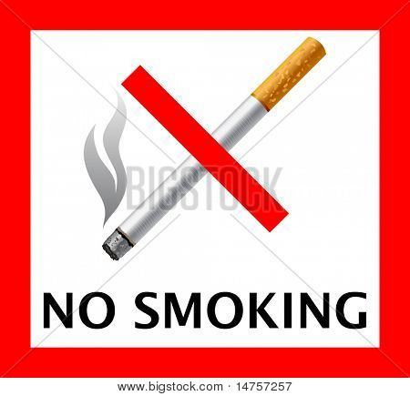 forbidden smoking sign