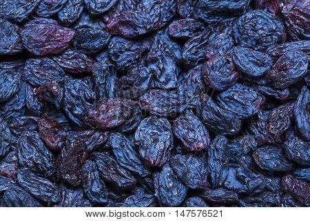 background dried raisin grapes closeup shot Fruit