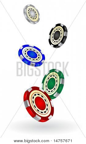 gambling chips vector illustrated