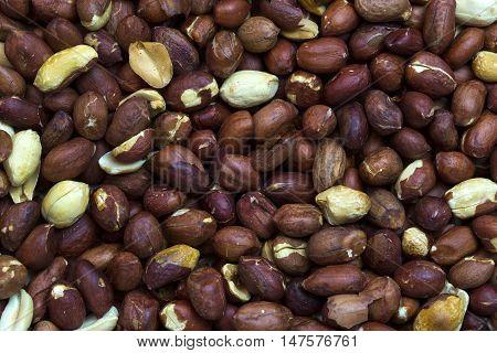background nuts peanuts close up shot Mixed
