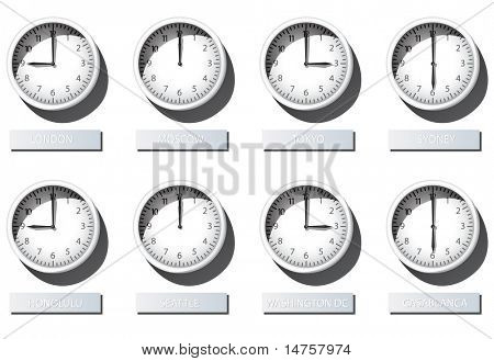 3d Karlsson Wall Clock Time Zone