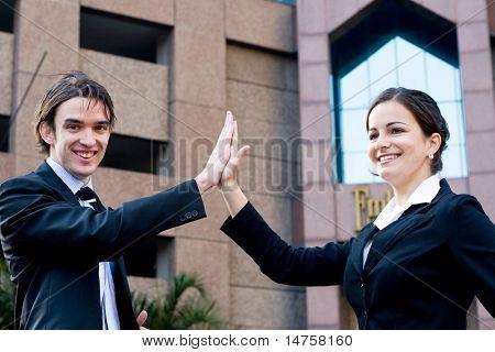 negocio high five