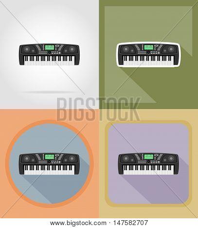 synthesizer flat icons vector illustration isolated on background