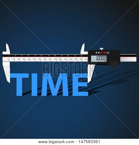 Abstract business background with digital slide gauge and title Time.