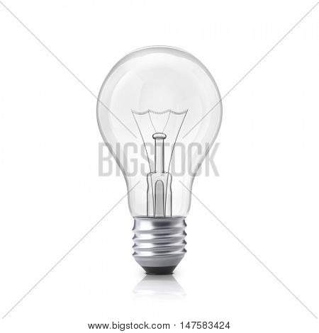 Light bulb isolated on a white background. 3D illustration