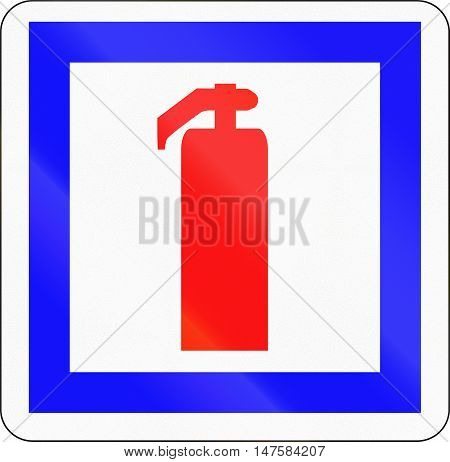 French Informational Road Sign - Fire Extinguisher
