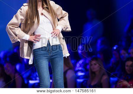 Sofia Fashion Week Female Blue Jeans
