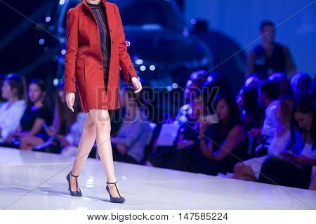 Sofia Fashion Week Female Red Jacket