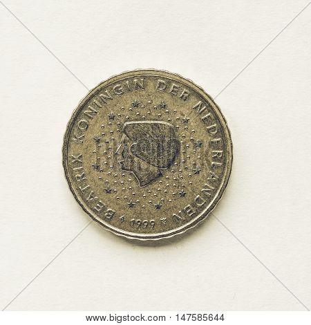 Vintage Dutch 10 Cent Coin