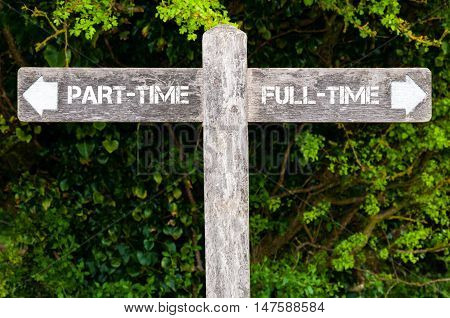 Part-time Versus Full-time Directional Signs