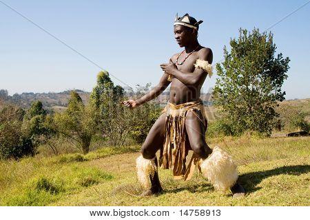 african zulu dancer