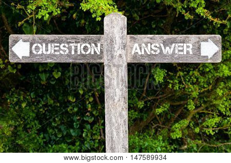 Question Versus Answer Directional Signs