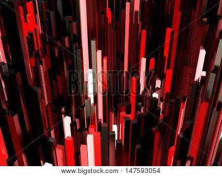 Abstract Red Light Background 3D Illustration