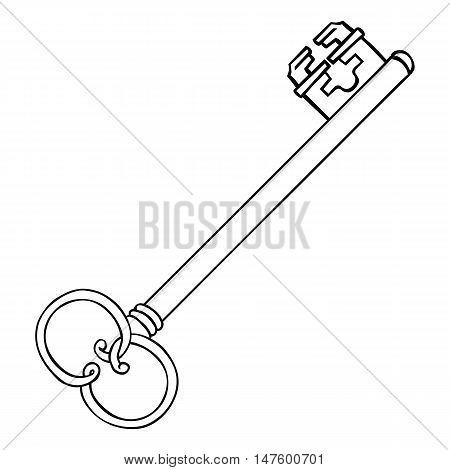 Vector Single Lineart Antique Key