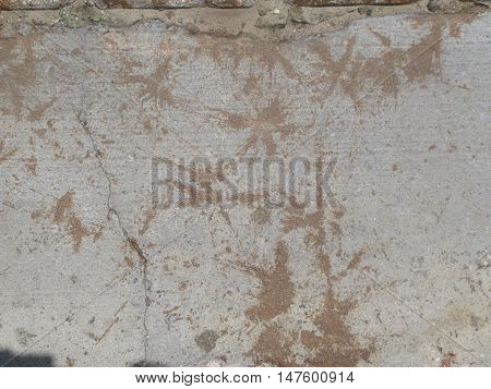 leaf stained concrete with crackes grunge grim texture
