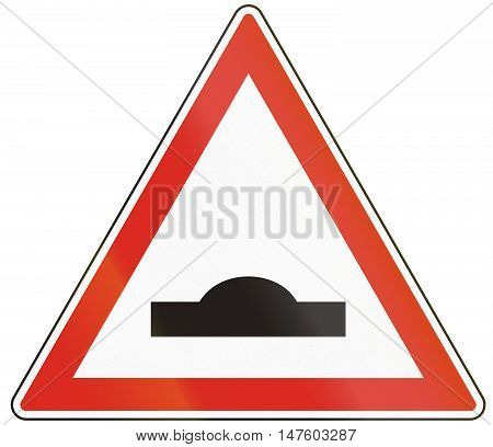Hungarian Warning Road Sign - Speed Bump