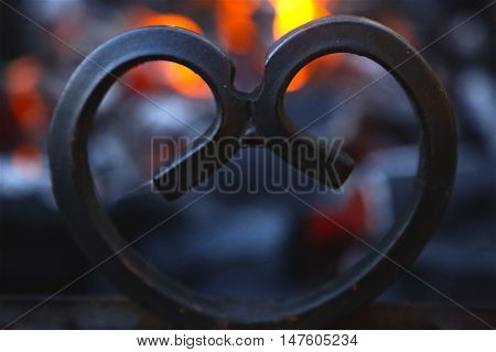 in the heart burns the fire of love Valentine's holiday