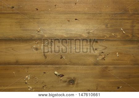 old natural wooden background or backdrop with dry pollen