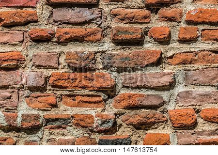 Close-up view of brick work of Padre Cross located in Presidio Park in Old Town, San Diego.