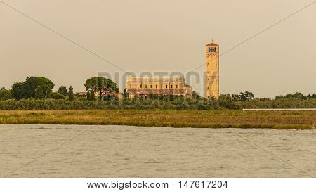 Bell tower and the Cathedral of Santa Maria Assunta in Torcello Island