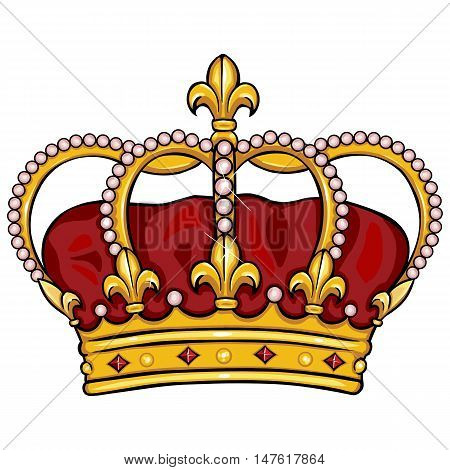 Vector Cartoon Royal Crown