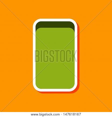 paper sticker on stylish background of eraser