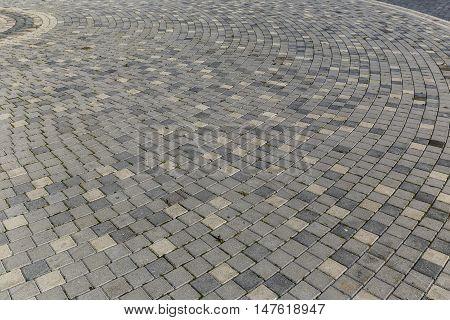 Masonry in a circle on the boulevard in Baku.Azerbaijan