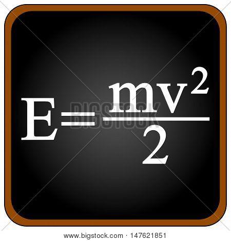 Formula on a black school board. Vector illustration.