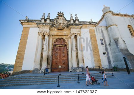Joanina Library At The University Of Coimbra, Portugal