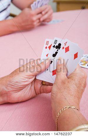 Senior Woman-Spielkarten