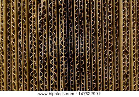 Packaging materials. Corrugated cardbord sheets closeup stock photo